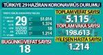 Türkiye 29 Haziran Koronavisüs Durumu